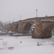December - Corbridge Bridge on a winters day by Eileen Charlton