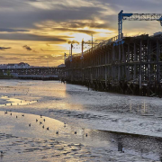 February -Tidal Tyne at Dunston Staithes by Alan Clark