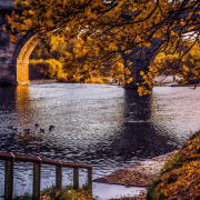 October - Autumnal Hexham Bridge by Kay Nixon