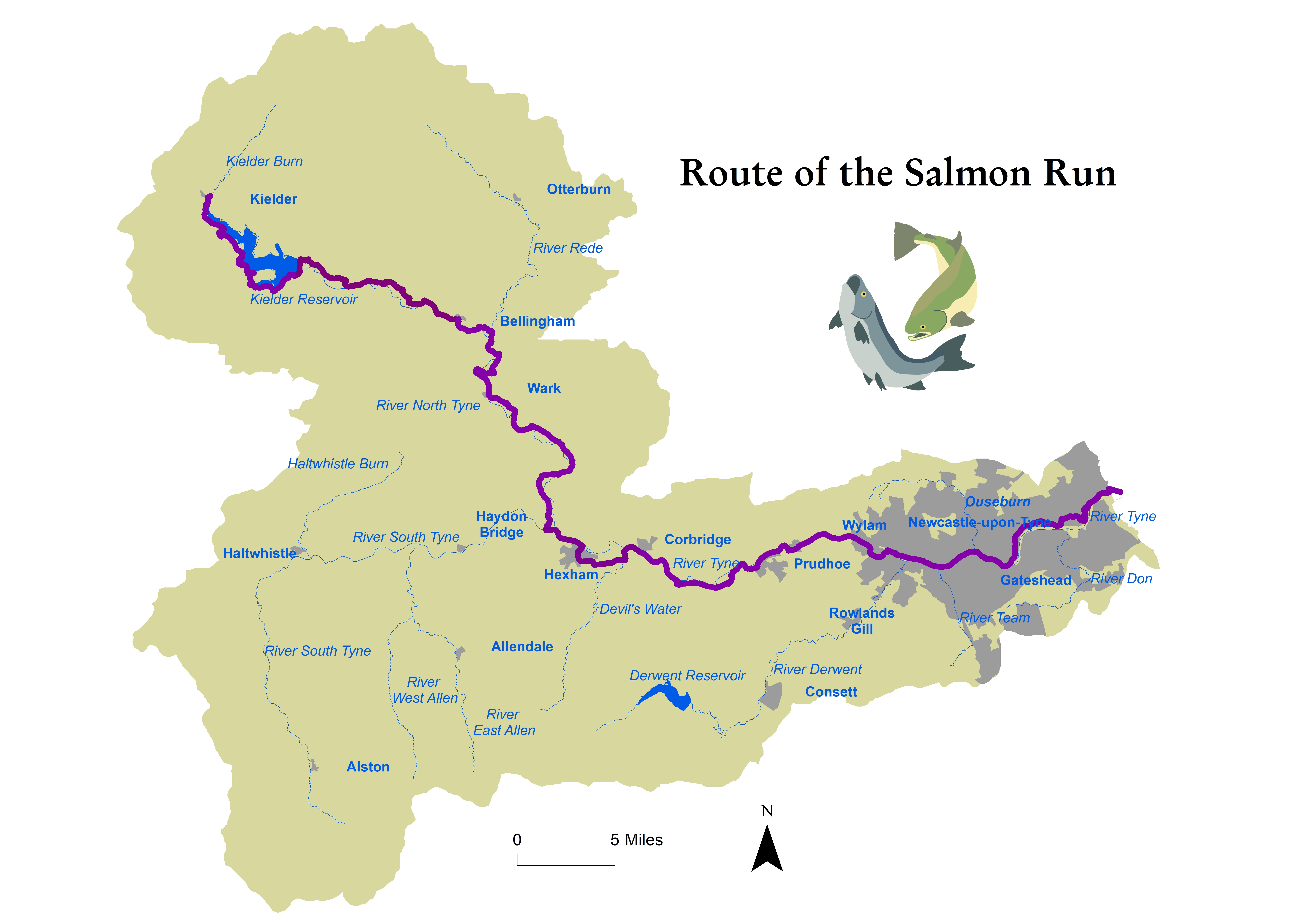 Route of the Salmon Run